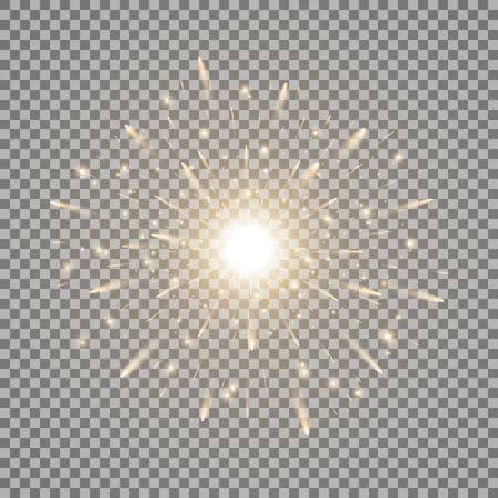 빛나는 빛, 스파클, 투명 한 그림에 반짝 스타 버스트. 일러스트
