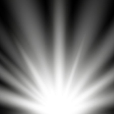 Rays of light from below on black pattern design.