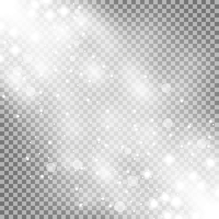 Glittering particles background effect, sparkling texture, stardust sparks on transparent background, light effect, white color