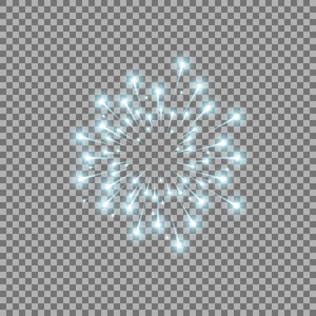 Glittery flying stars vector illustration