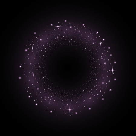 Circle of glittery particles vector illustration