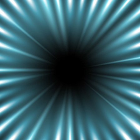 Abstract background with free space in the center, light effect on black background, aqua color