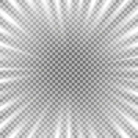 Abstract background with free space in the center, light effect on transparrent background, white color.