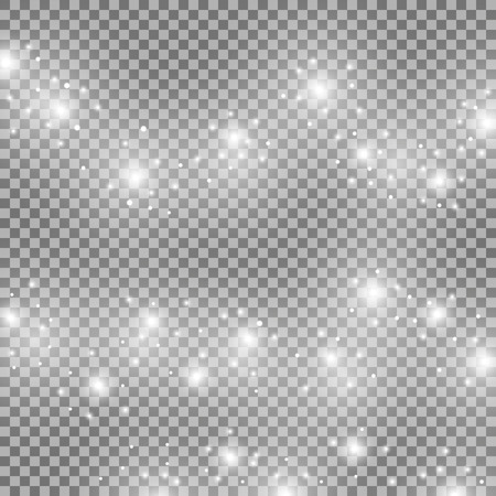 Light glow effect stars bursts with sparkles, isolated on transparent background, white color