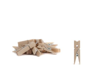 useful: wooden clothes pegs