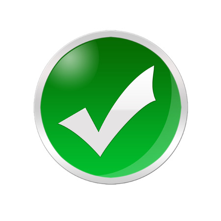 affirmative: Illustration of a checked icon inside a green circle