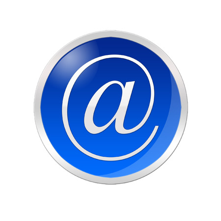 e commerce icon: Illustration of an email icon inside a blue circle