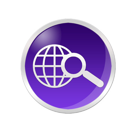http: Illustration of a searching icon inside a purple circle Stock Photo