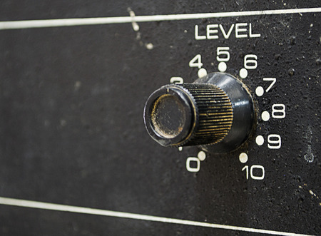 Volume control knob from an old amplifier