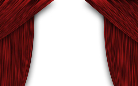 theater curtain: theater curtain Stock Photo