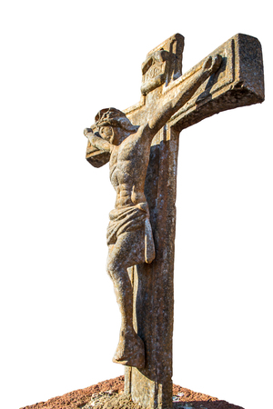 Vertical Image Isolated In Color Of The Crucifixion Oh Jesus.. Stock ...