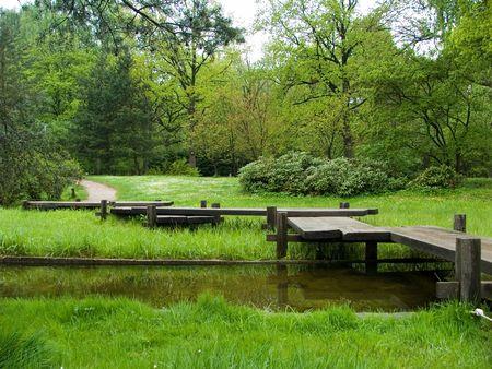 footbridge: Foot-bridge Stock Photo