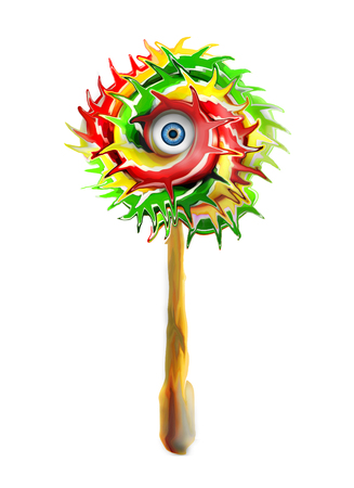 lollipops with an eye in the center