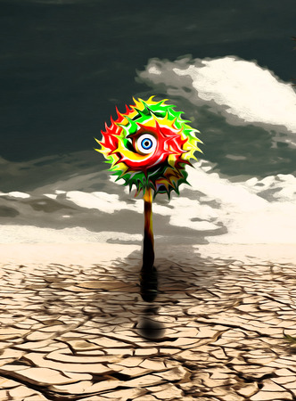 image of a lollipop in the desert