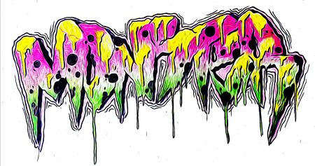 monster graffiti lettering Imagens