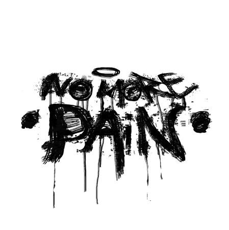 geen pijngraffiti meer Stockfoto
