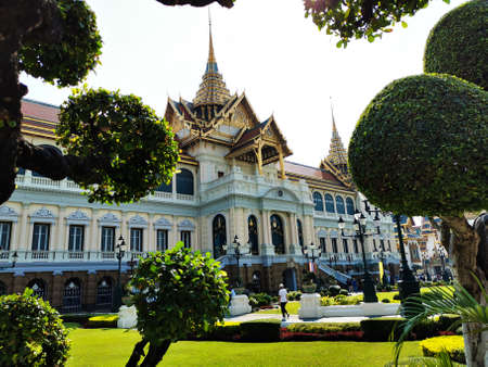 View through the gardens of the stunning royal palace in Bangkok, Thailand 2-15-2020