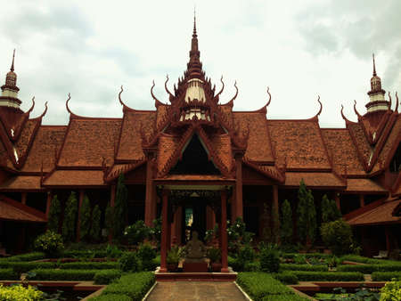 Amazing architecture displayed at the Cambodian capitals museum