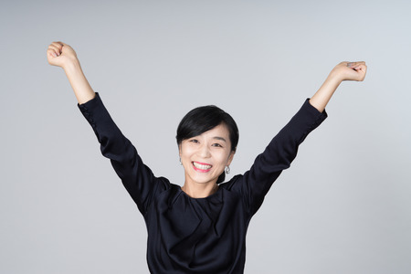 hurray: attractive asian woman image