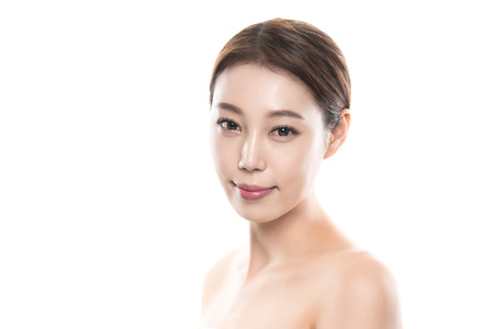 20s: 20s young asian female studio beauty photo shoot - isolated Stock Photo