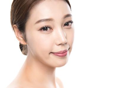 20s young asian female studio beauty photo shoot - isolated Stock Photo