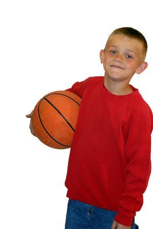 sweatshirt: Boy mit Basketball  Lizenzfreie Bilder