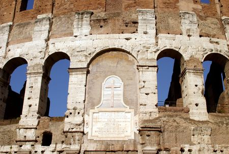 Portion of the Roman Colosseum.