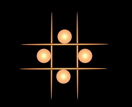 toothpick: Abstract illustration of golden balls and toothpick shaped lines.