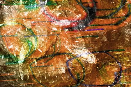 Abrégé sur grunge modèle de couleurs brunes, oranges, noires et vertes. Banque d'images - 2371263