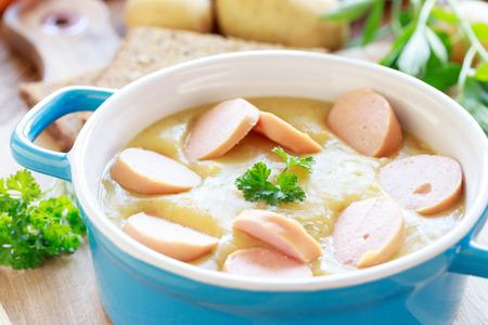 vigorously: Potato soup with sausages