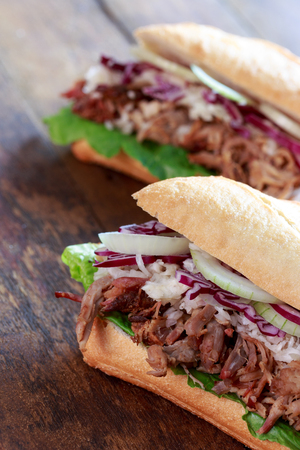 pulled: pulled pork sandwich