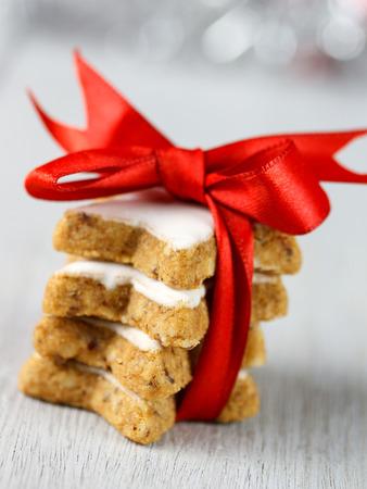 christmas baker's: cinnamon stars Stock Photo