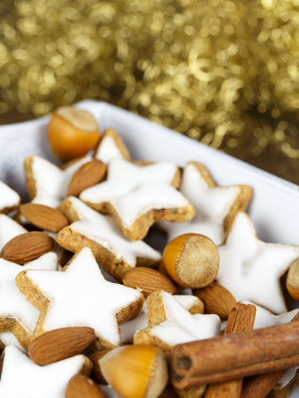 christmas baker's: cinnamon stars Stock Photo