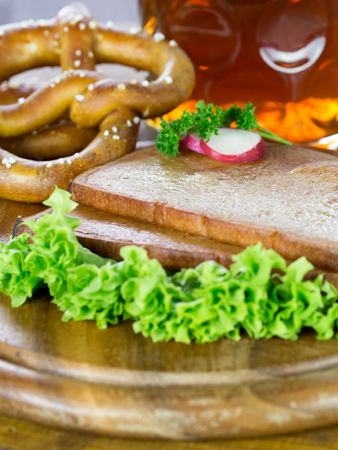 Baked meatloaf Stock Photo