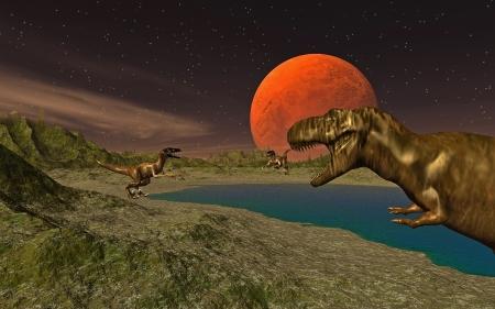 meer: Velociraptor Stock Photo
