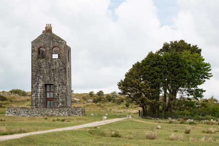 Housemans Engine House of formerly South Phoenix Mine, now housing the Minions Heritage Center, Cornwall UK