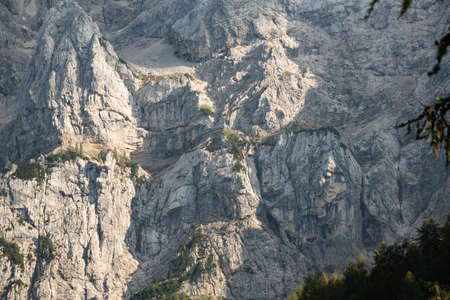 Pagan Girl Ajdovska deklica rock face in Prisank mountain, Slovenia