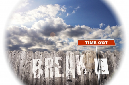 end times: Break Picture  Stock Photo