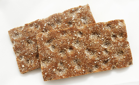 wo slices of Scandinavian hard bread from Finland.