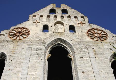 Medieval St Nicolai Church ruin in Visby, Gotland Island, Sweden. Stock Photo