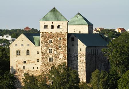 The medieval Turku castle in Finland in summer.