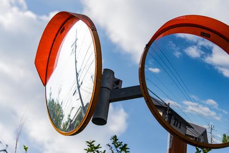 mirror: Curved mirror Stock Photo