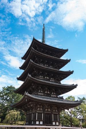 興福寺の五重塔を 50 報道画像
