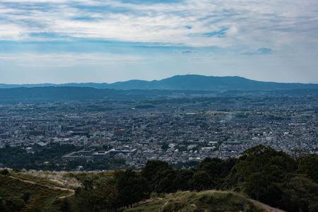 奈良盆地 写真素材