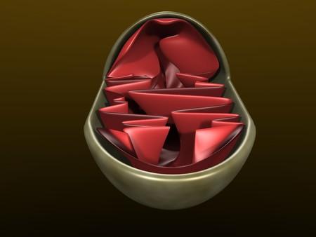 3d illustration of a mitochondrium 写真素材