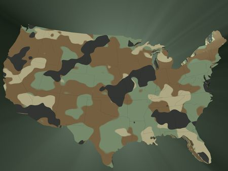 the United States of America in camouflage Stock Photo