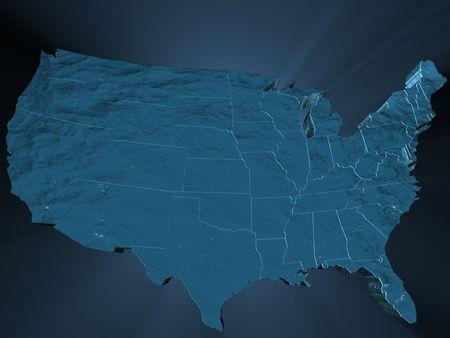 海の水で満たされたアメリカ合衆国 写真素材 - 4486617