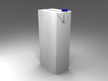 3d illustration of an isolated pakaging with blue screw cap Stock Photo