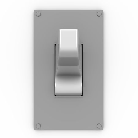 3D illustration of a light switch in frontal view Banco de Imagens