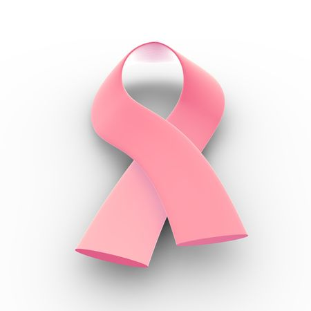 3D illustration of a pink ribbon - cancer Stock Photo